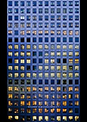 where's your office? (marqos) Tags: light sunset reflection london window facade office bank center shelves desks financialchairs