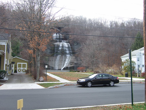 View of Montour Falls from road