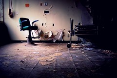 just good. (artsy_T) Tags: abandoned hospital scary bed chair paint detroit freaky dirty busted lead nasty stinky moldy asbestos urbex ewewew musty happybdaychris psthegoodfoodwasnoteatenhere itwassomeplaceelse ithinktherewassomefowltoeattherethough