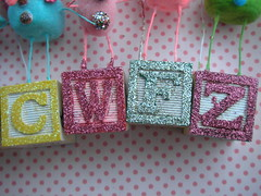 Glittered Toy Blocks!