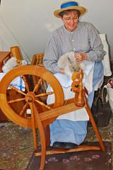 Spinning rabbit fur_3260 (nc_sizemore) Tags: reenactors 1870s oldflorida ocalafl ruralflorida silverriverstatepark ocalidays silverrivermuseum