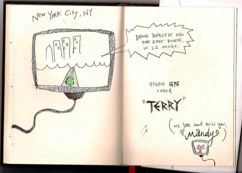 Tour Doodle 2009: Pages 8 & 9
