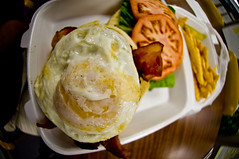 Ali'i Burger, Bacon, Egg over-easy, Side Fries