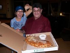 Louies Muffler-sized Calzone!