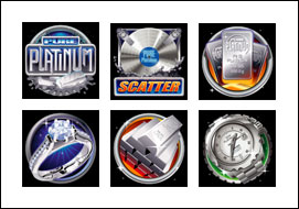 free Pure Platinum slot game symbols