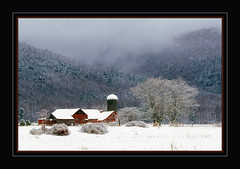 Snow In The Berkshires (Photographic Poetry) Tags: winter snow cold nature landscape december seasons massachusetts blizzard lenox