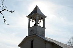 Trinity silhouette (Stephen Little) Tags: snow church bell methodist fauquier catlett minoltaaf50mmf17 trinitycatlettunitedmethodistchurch jstephenlittlejr