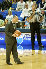 DeChellis with Talor Battle's 1000 Point Game Ball (acaben) Tags: history basketball pennstate psu collegebasketball brycejordancenter dechellis pennstatenittanylions eddechellis psubasketball pennstatebasketball nittanylionbasketball coachdechellis