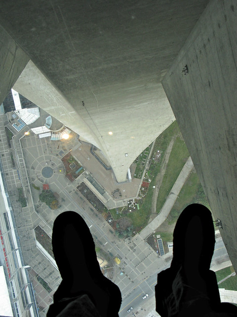 CN Tower - glass floor view