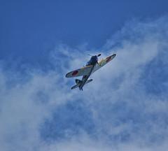 [フリー画像] 乗り物, 航空機, 戦闘機, ゼロ戦・零式艦上戦闘機, 201011022300