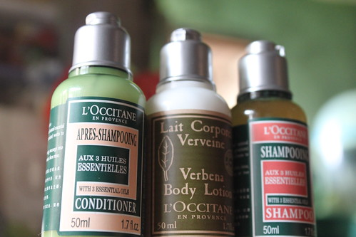 L'Occitane Aromachologie Shampoo, Aromachologie Conditioner and Verbena Body Lotion Set - Copyright All the Vanity 2010