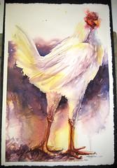 Portrait of a Chicken #1 (Jennifer Kraska) Tags: art chicken watercolor painting jennifer kraska jenniferkraska
