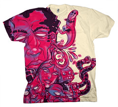 Strange Faces : Tee-Cream (raz city) Tags: boy urban dog strange face tongue death three kid clothing bottle fight friend child hand heart faces cartoon attack surreal style tshirt battle cyclops robots artsy popart shirts cuddly terror demon bolts swirl monsters lightning gentrification bleeding psychedelic creatures apparel grimreaper teeshirts tees fasion 3brothers heartless tvtvhead