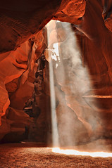 Oh - Heaven, Let Your Light Shine Down (Az Karen...busy) Tags: light sun sunshine rocks shine canyon dirt dust sunrays rayoflight lightbeam pagearizona greatphotographers upperantelopecanyon overlandcanyontours