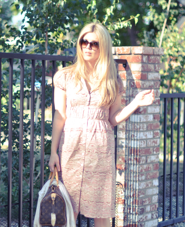 max azria simple peasant dress