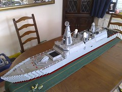 HMS Thunderchild 01 (Babalas Shipyards) Tags: military navy frigate corvette warship legoship littoralcombat hmsthunderchild
