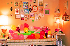Twas the Night Before (boopsie.daisy) Tags: pictures birthday lamp wall balloons living frames glow room carousel sofa cushions preparing