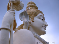 Lord Shiva- The god of destruction (AshMec) Tags: blue india history daylight nikon god destruction religion lord coolpix shiva hindu mythology jabalpur maheshwari ashveen hannahophiophagus