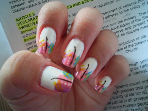 Abstract nail art designs