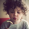 Ooooo... delicious (Kerrie McSnap) Tags: friends boy portrait kids breakfast children square nikon child eating pascal d60