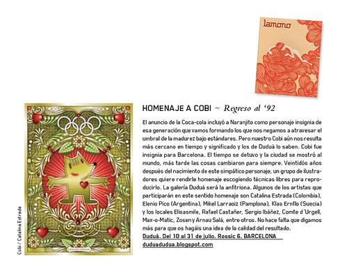 Homenaje a Cobi en La Mono magazine.