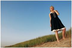 Louise (www.hansvink.nl) Tags: sea summer woman beach girl strand shoot dunes zee louise duinen noordwijk hansvink