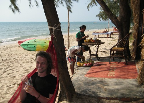 Chilling at Star Bar Bungalows - Otres Beach, Cambodia