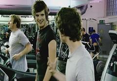 Vagabond on the treadmill for Pocket TV (Pocket TV) Tags: sonyericsson tvshow treadmill vagabond pockettv mattedmondson