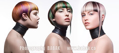 Hair color Naha (BABAK photography) Tags: green beauty face fashion modern magazine hair photography book photographer makeup collection trends wires salon babak awards naha 2009 avant garde styling facebook babakca babaked haircolortrends hairstyls