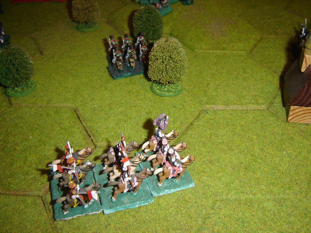 More French lancers drive Prussian cavalry away from Limale