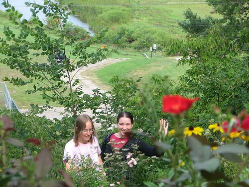 Kathryn & Annie in the garden