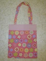Flower/Pink tote
