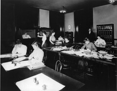 Class in accounting at Mary (sic) Morrison Carnegie School, Pittsburgh, PA. No date given, ...
