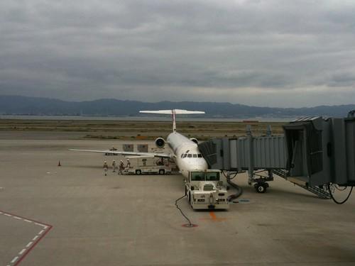 今から搭乗なう。全機退役が決まってるMD-81に乗るのも、数えるくらいかな。