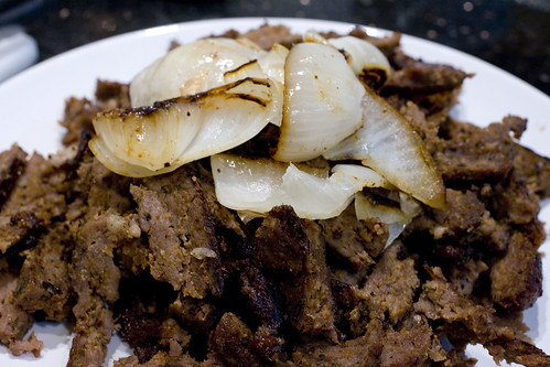 Shredded Lamb Shawarma with Onion