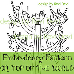 on top of the world (revi1001) Tags: tree bird modern kawaii chic etsy whimsical embroiderypattern contemporer craftpattern gogree revi1001