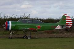 G-BZJB - 811601 - Private - Bacau Yak-52 - Little Gransden - 090830 - Steven Gray - IMG_0630