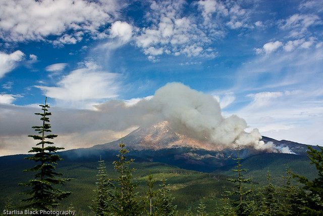 Crofton Ridge Wildfire, Mt. Adams