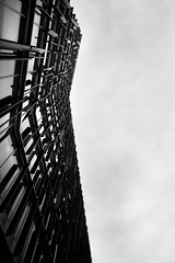 exoskeleton (morf*) Tags: england blackandwhite bw abstract london architecture modern clouds silver grey southwark tilitshift bluefinbuilding