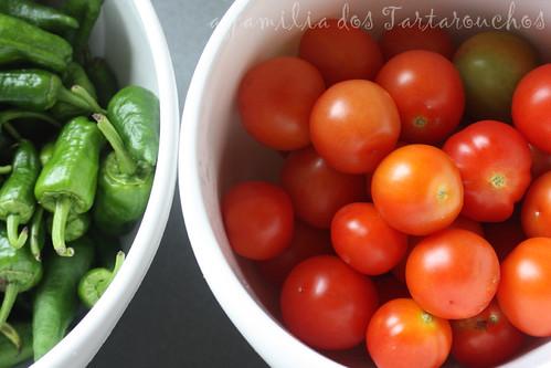 tomates e pementos