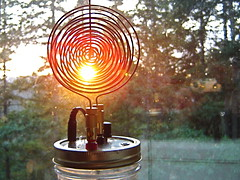 Tesla Spirit Radio With Pancake Antenna (MrfixitRick) Tags: light radio spiral spirit sensitive pancake antenna tesla diode