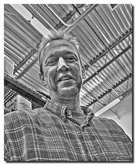 THE REAL LIFE BEAKER (Darkmoon Photography) Tags: portrait blackandwhite coworker gimp converted hdr photomatrix
