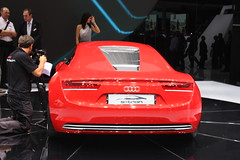 Audi e-tron (Andy_BB) Tags: auto show hot sexy cars girl beautiful beauty car nice model automobile pretty frankfurt gorgeous handsome fair babe voiture coche carro vehicle hostess autos chic lovely audi swell  macchina 2009 coches bagnole iaa etron automvil austellung exhibiton  internationalmotorshow