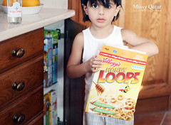 Breakfast, Anyone? (Missy | Qatar) Tags: morning boy baby breakfast loops honey missy cereals kelloggs qatar koki kooki 3air alkhater bejama