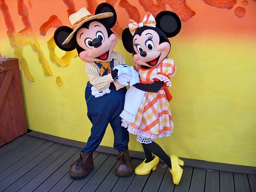 Candy Corn Acres Mickey and Minnie