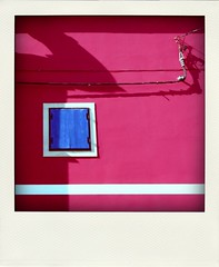 cerise wall (duineser) Tags: pink shadow colour detail muro window wall colore ombra magenta fuchsia rosa finestra fucsia cerise dettaglio premantura 0014 poladroid ciliegiaprofondo