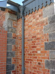Pointed Brick and Cast Iron Detail