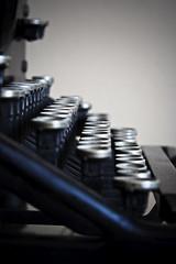 Keys (Cameron Booth) Tags: barcelona typewriter spain europe dof catalonia historic unescoworldheritagesite depthoffield artnouveau catalunya es apartmentbuilding catalua casamila modernisme apartmentblock casamil lapedrera jugendstil