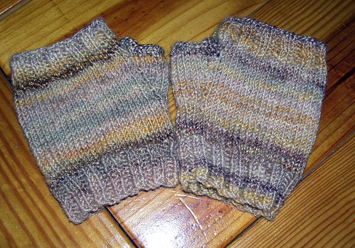 Finished Fingerless Mitts