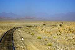 Like a Ribbon in the Wind. (Explored). (Commoner28th) Tags: railroad mountain travelling train wind steel railway hills rails ribbon geography curve ahmed zigzag bolan agha quetta waseem pakistanrailway sibi baluchistan pakistanrailways commoner28th